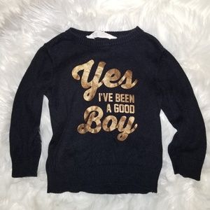 Toddler graphic black h&m sweater